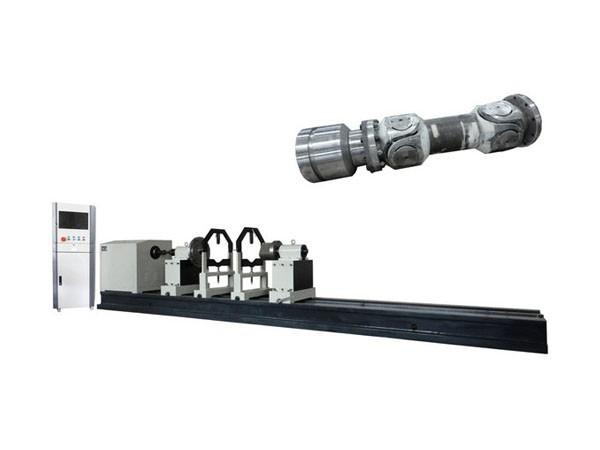 Heavy duty drive shaft balancing machine